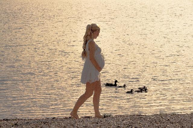 妊婦さんの散歩