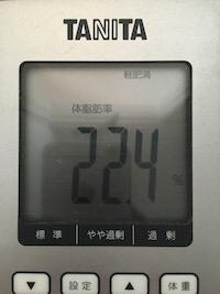 脂肪燃焼スープダイエット4日目体脂肪率