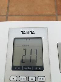 脂肪燃焼スープダイエット5日目体脂肪率